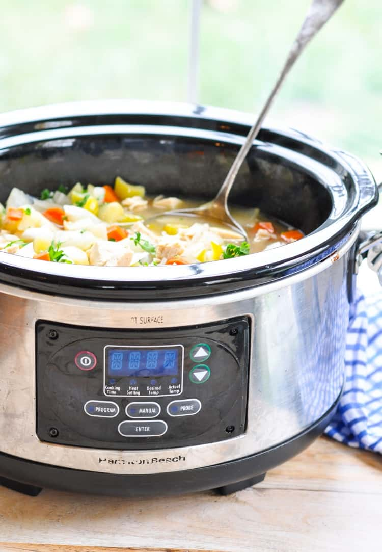 how to cook chicken stew in a slow cooker