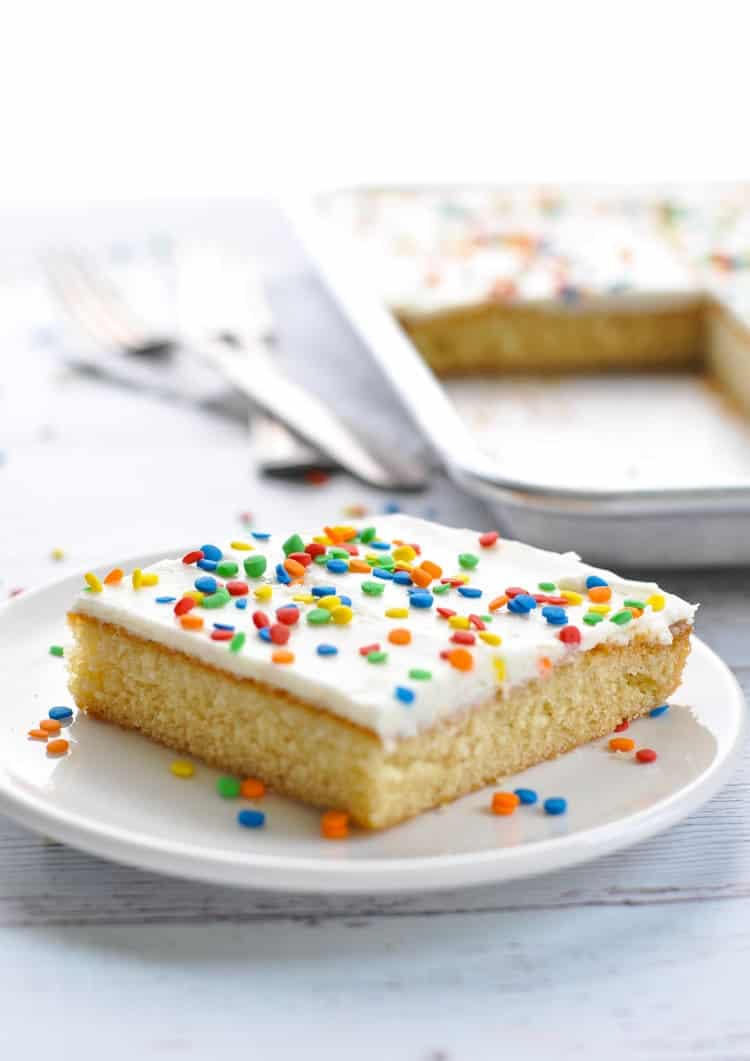 Chi Chis Famous White Texas Sheet Cake The Seasoned Mom