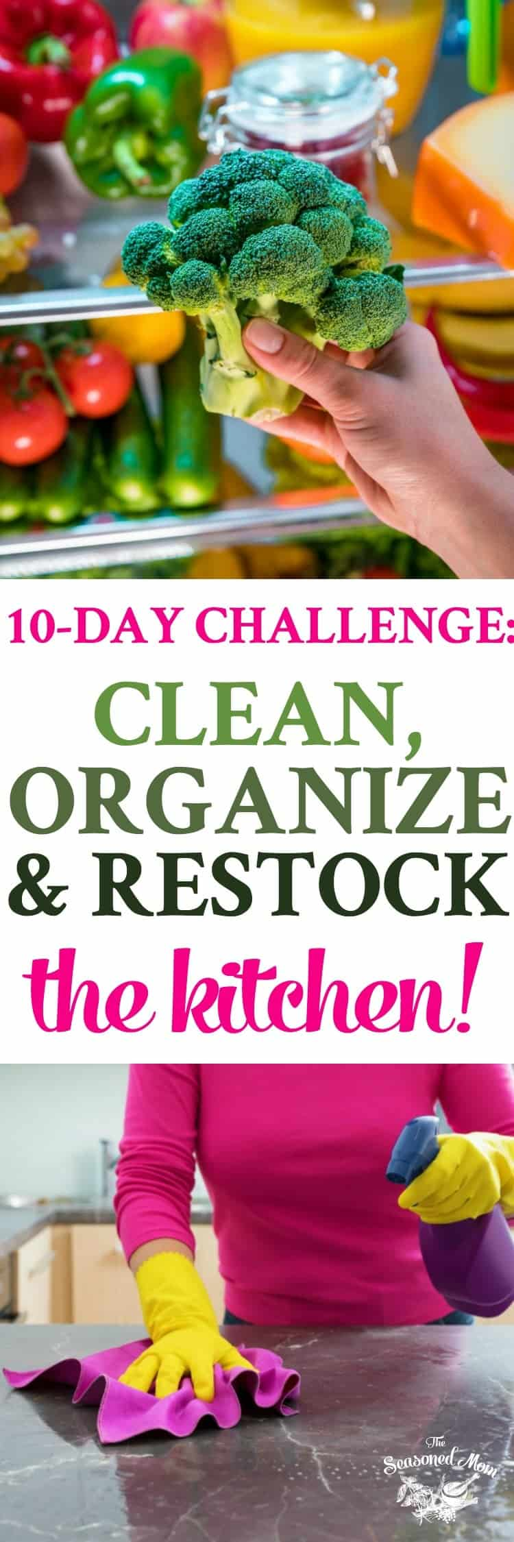 A 10-Day Challenge to Clean, Organize and Restock Your Kitchen! Home Organization | Cleaning Hacks | Cleaning Schedule #kitchen #organization #cleaning