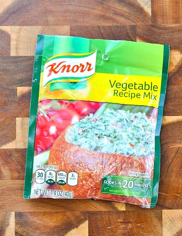 Packet of knorr vegetable recipe mix