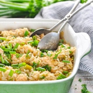 Dump-and-Bake Chicken and Dirty Rice