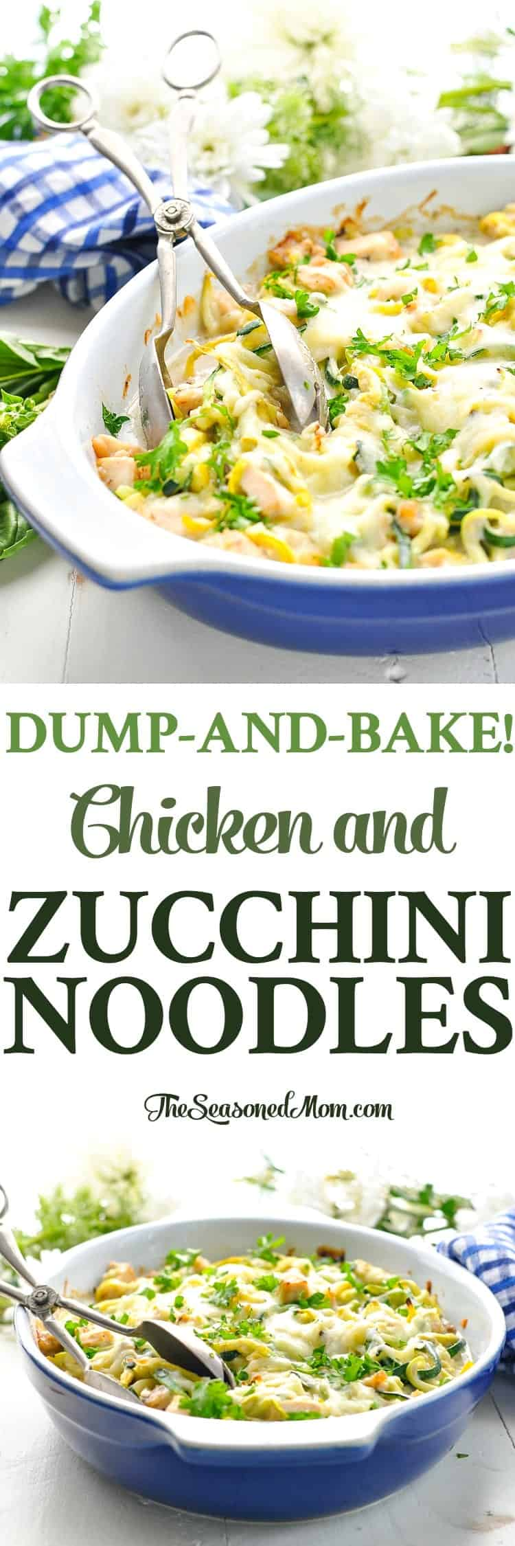 Image of Dump and Bake Chicken and Zucchini Noodles