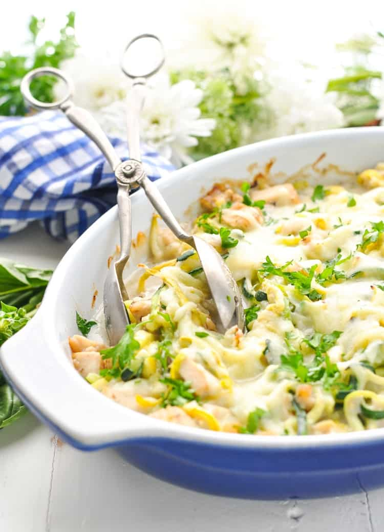 Dump And Bake Chicken And Zucchini Noodles Recipe The Seasoned Mom