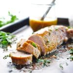 Mustard and Brown Sugar Baked Pork Tenderloin
