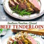 Long collage of beef tenderloin recipe