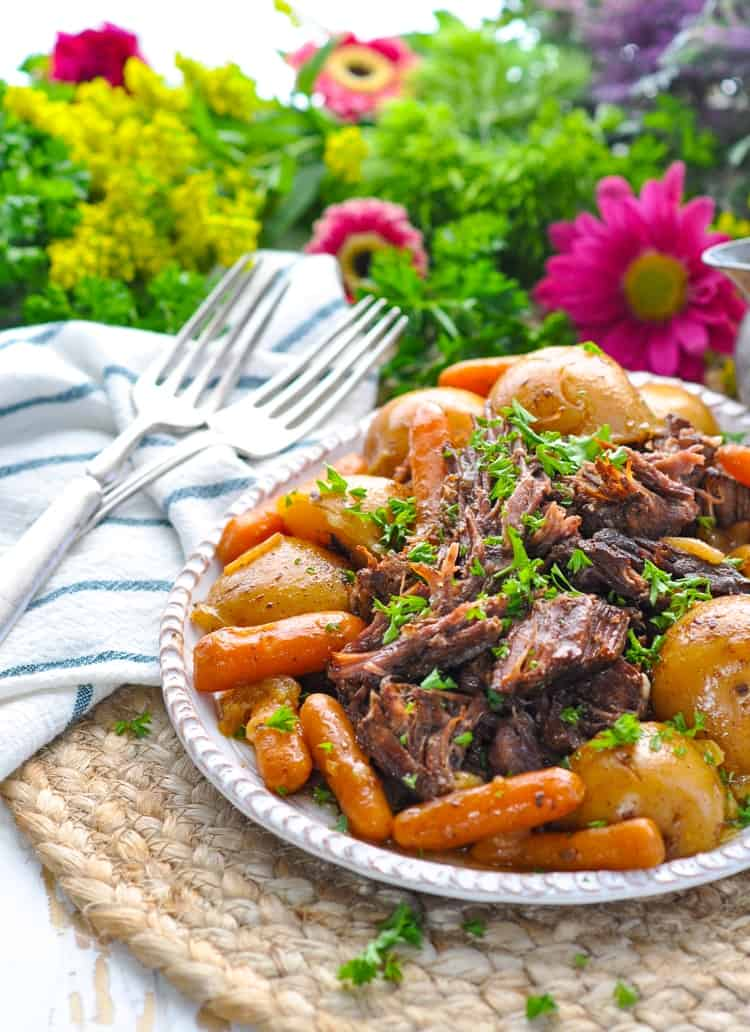 An easy Instant Pot chuck roast recipe that makes a great one pot meal!