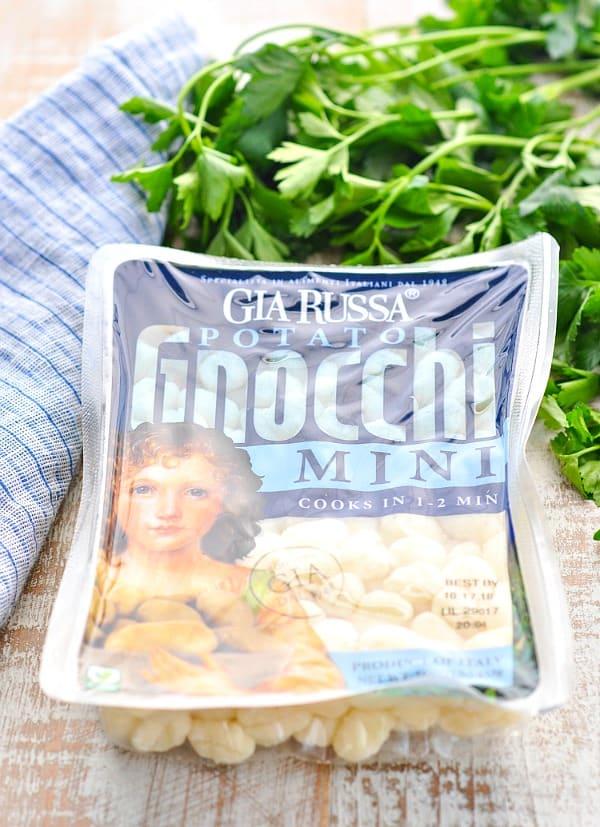 Package of mini gnocchi