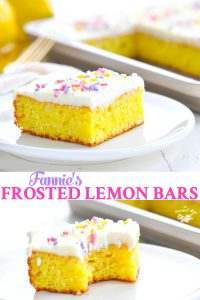 Long collage of Frosted Lemon Bars