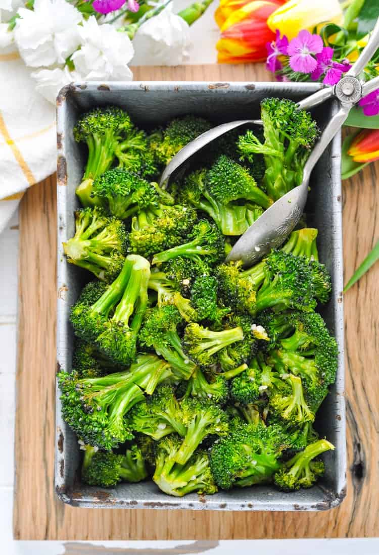 Garlic Roasted Broccoli Recipe The Seasoned Mom