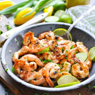 Grilled Honey Lime Shrimp is an easy and healthy dinner recipe!