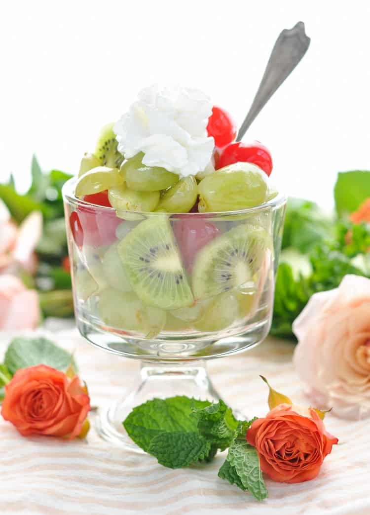 A festive Mint Julep Fruit Salad is perfect for a bridal shower or Kentucky Derby party!