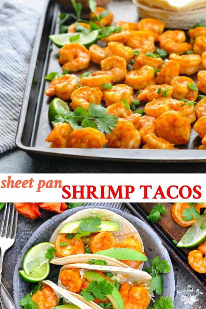 Long collage of Sheet Pan Shrimp Tacos