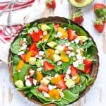 Strawberry Spinach Salad & Poppy Seed Dressing
