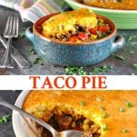 Long collage of Taco Pie