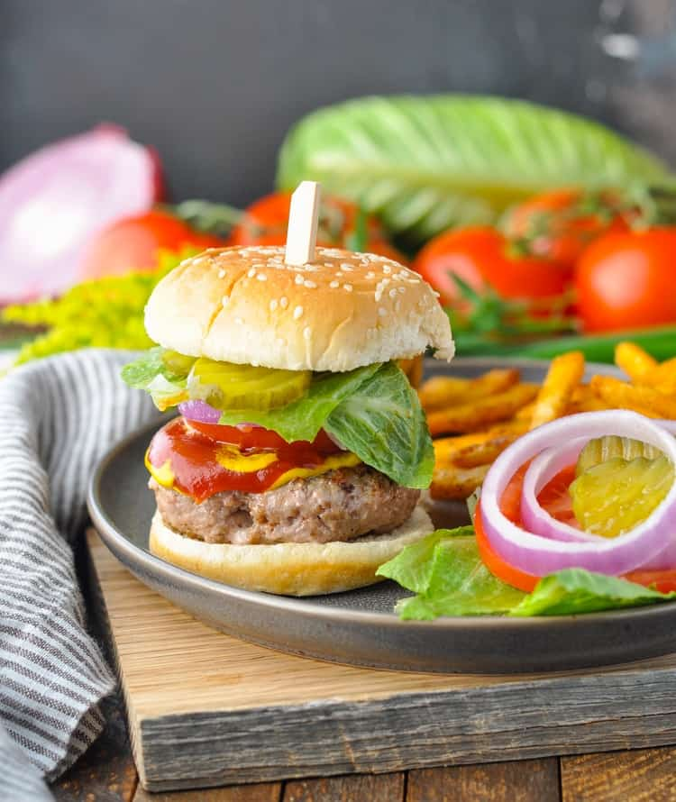 Delicious and juicy turkey burgers are a healthy dinner for a summer cookout!