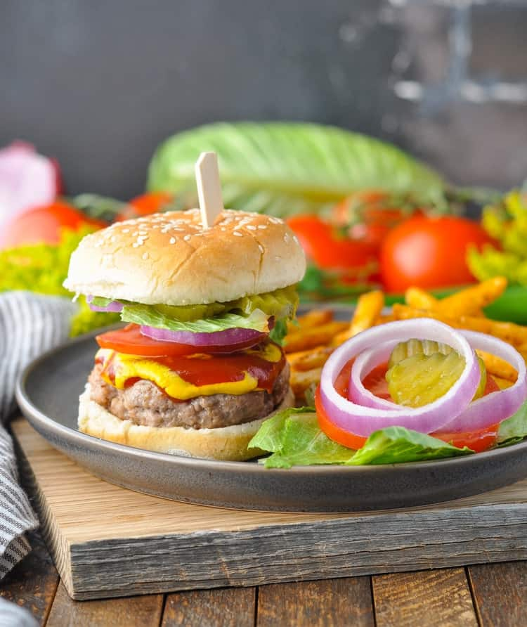 Juicy turkey burgers are a healthy recipe for your next cookout!