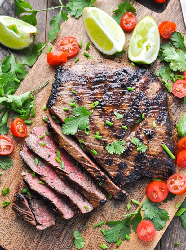 Grilled steak marinade turns flank steak into carne asada