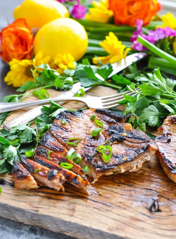 Tender and juicy meat from a delicious pork chop marinade!