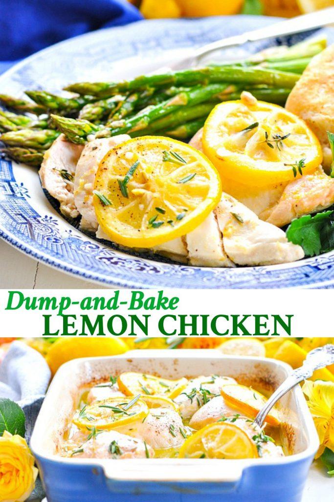 Long collage of Baked Lemon Chicken
