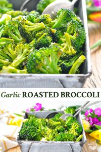 Long collage image of Roasted Broccoli Recipe