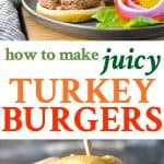 Here's an easy way to make juicy turkey burgers for a healthy dinner at your next cookout!