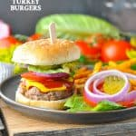 An easy recipe for healthy turkey burgers on the grill!