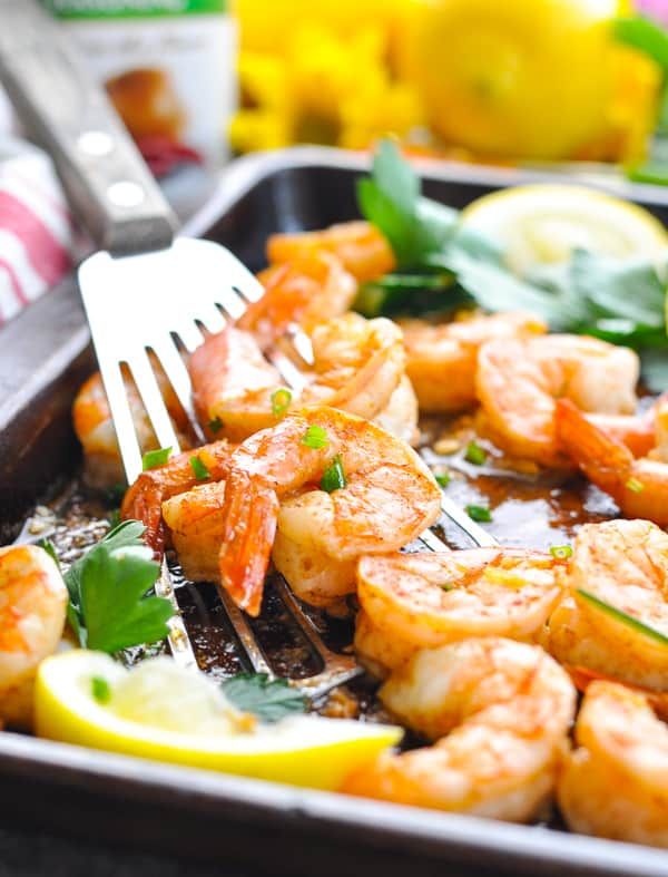 Zesty Cajun seasoned shrimp roasted in the oven