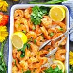 Marinated shrimp in creole seasoning that has been roasted in the oven