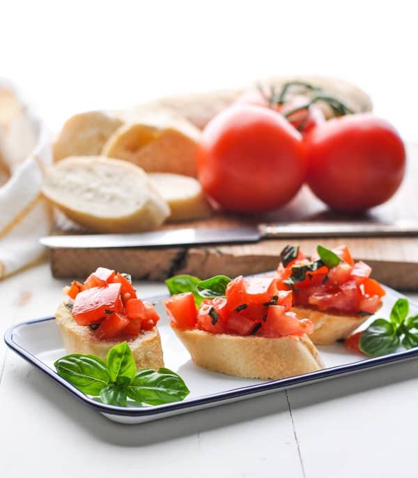 Use fresh summer tomatoes for this easy bruschetta