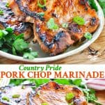Long collage of Pork Chop Marinade