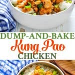 Dump and Bake Kung Pao Chicken is easy Chinese food dinner at home