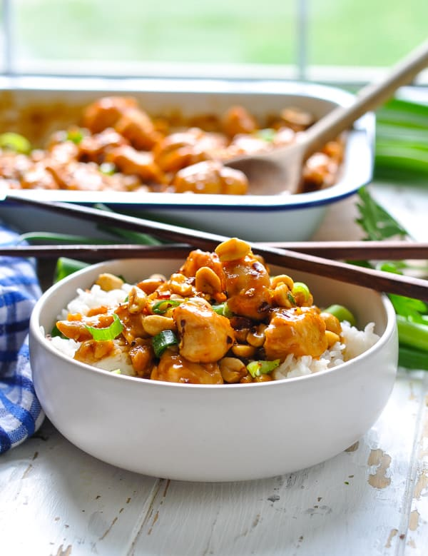 Easy dinner recipe is Kung Pao Chicken at home.