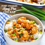 Use this Dump and Bake Kung Pao Chicken recipe for an easy dinner at home.
