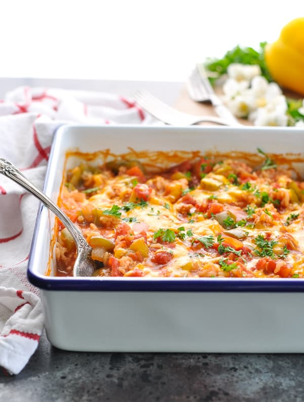 Dump And Bake Stuffed Bell Peppers Casserole The Seasoned Mom