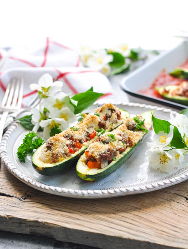 Try these easy and healthy stuffed zucchini for a vegetarian dinner or a meal that's made with ground beef!