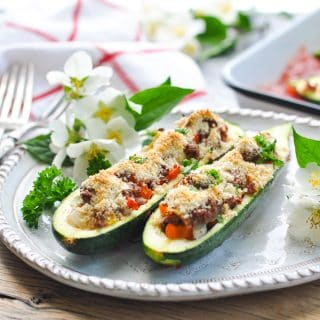 Easy Stuffed Zucchini Boats
