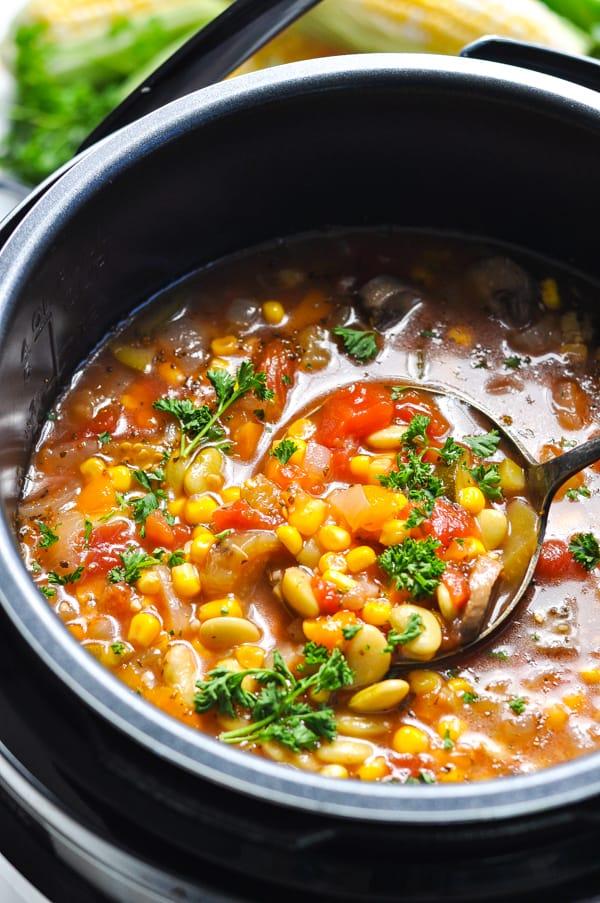 Summer Vegetable Soup {Instant Pot + Stovetop + Crock Pot} - The Seasoned  Mom