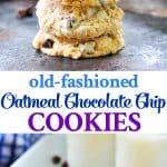 Easy homemade cookies like Grandma's Oatmeal Chocolate Chip Cookies are a fun dessert