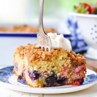 Red White and Blueberry Buckle