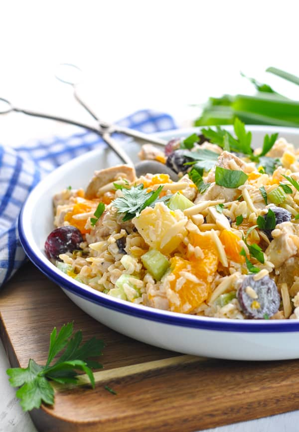 Southern Chicken and Rice Salad is an easy and healthy dinner recipe!