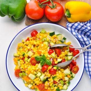 Healthy and Easy Summer Corn Salad