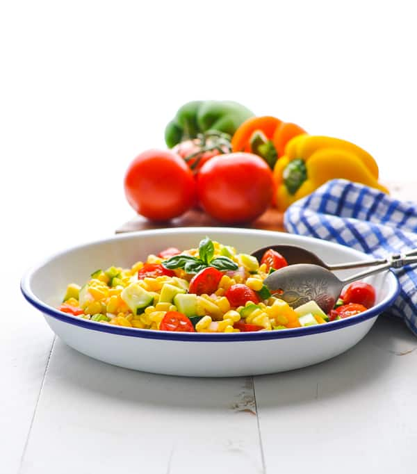 Bring a fresh summer corn salad to your next party!