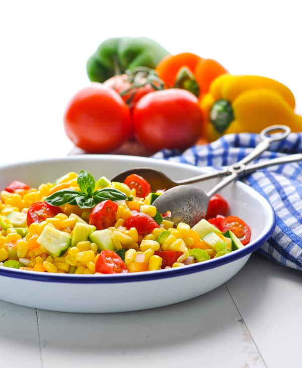 Clean eating is easy with this Summer Corn Salad!