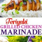 The easy Teriyaki Grilled Chicken Marinade is an easy dinner recipe for summer!
