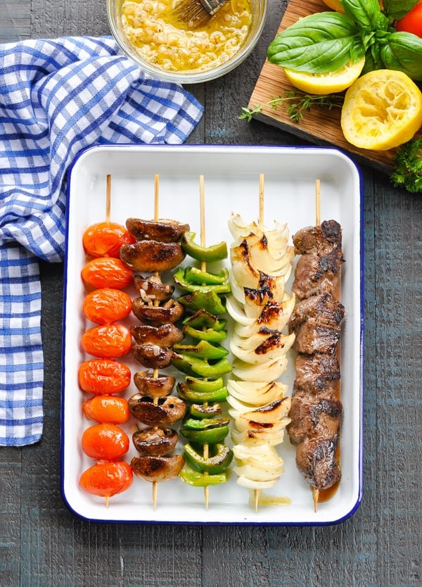 Beef Shish Kabobs are an easy and healthy dinner recipe for the grill oven or stovetop!