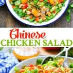 This Chinese Chicken Salad is an easy and healthy dinner recipe for summer!