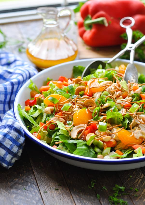 A healthy dinner is just minutes away with this Chinese Chicken Salad