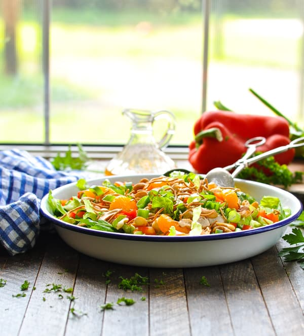 Use a rotisserie chicken or leftovers for this easy dinner recipe of Chinese Chicken Salad