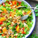 Serve a chinese chicken salad with homemade orange sesame dressing for a fresh and easy dinner idea!