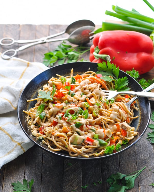 Try Chinese food for dinner with this easy recipe for cold peanut sesame noodles!